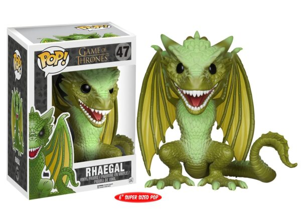 Funko Pop! Game of Thrones 47 Rhaegal Super Sized Pop (Not mint) 1