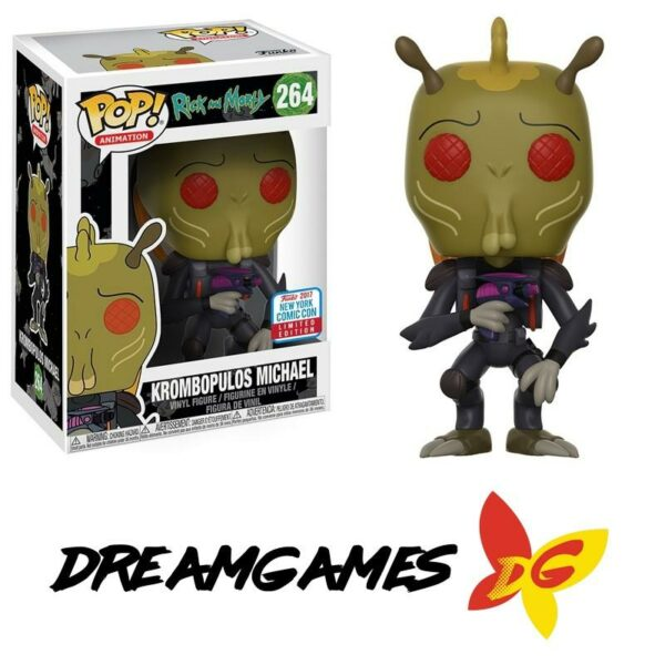 Figurine Pop Rick and Morty 264 Krombopulos Michael NYCC 2017 Comic Con Limited Edition VAULTED