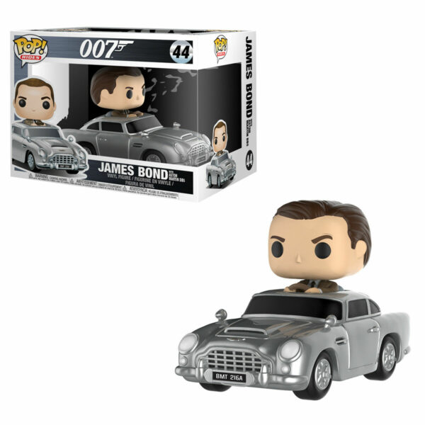 "Funko Pop! 007 ""rides"" James Bond with Aston Martin (Not mint) 1"