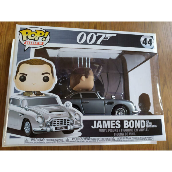 "Funko Pop! 007 ""rides"" James Bond with Aston Martin (Not mint) 2"