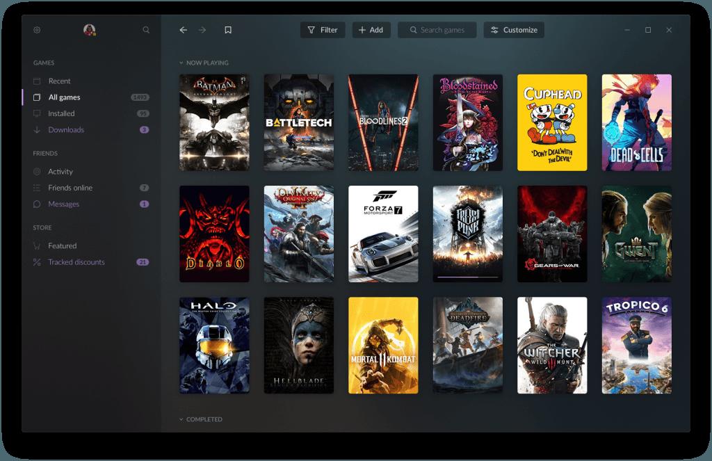 GOG GALAXY 2.0 Beta 2