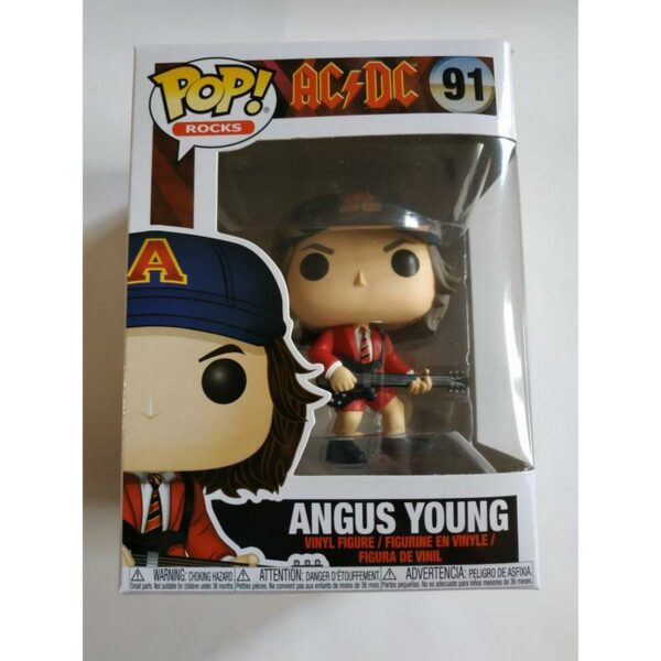 Funko Pop! ACDC 91 Angus Young Red Jacket NOT MINT 1