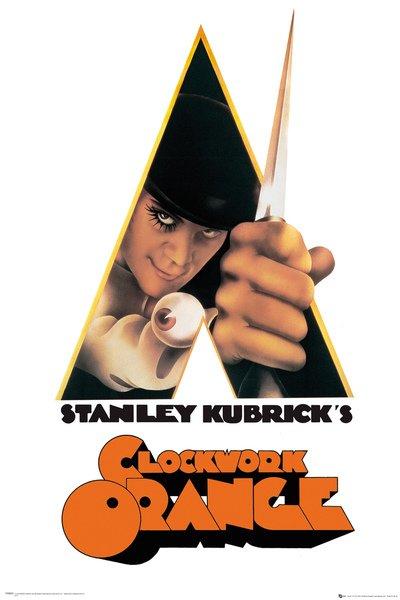 Poster Orange mécanique 61 x 91 cm 1