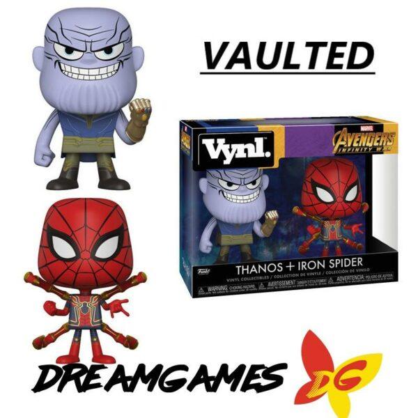 Figurine Vynl Avengers Infinity War Thanos + Iron Spider VAULTED