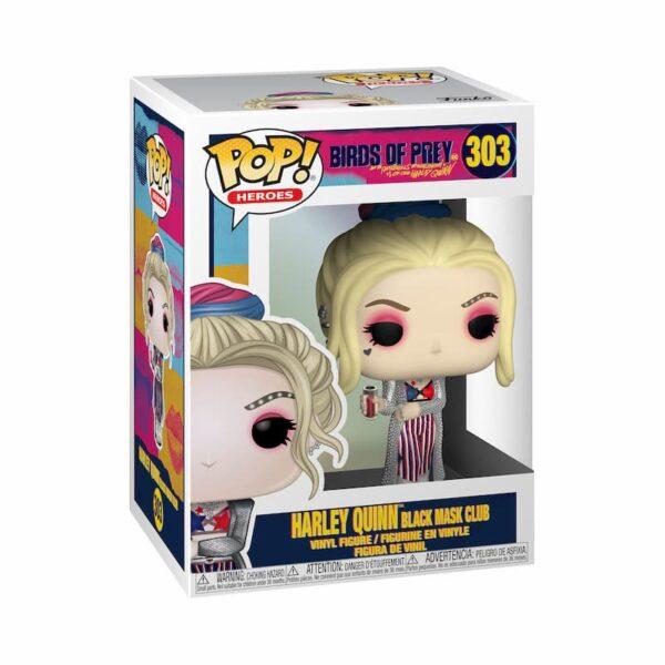 Figurine Pop Birds of Prey 303 Harley Quinn Black Mask Club 1