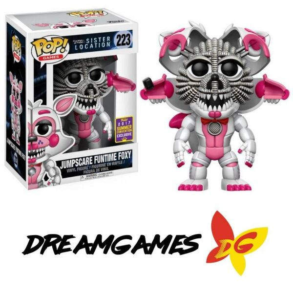 Figurine Pop FNAF Sister Location 223 Jumpscare Funtime Foxy SDCC 2017 Summer Convention Exclusive VAULTED