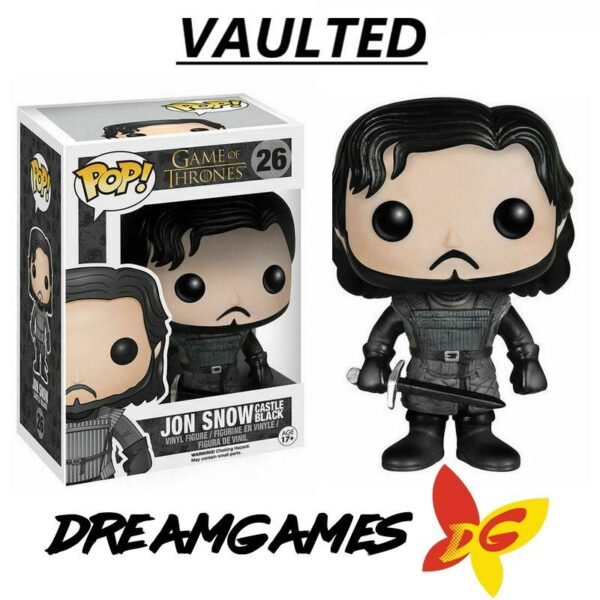 Figurine Pop Game of Thrones 26 Jon Snow Castle Black VAULTED