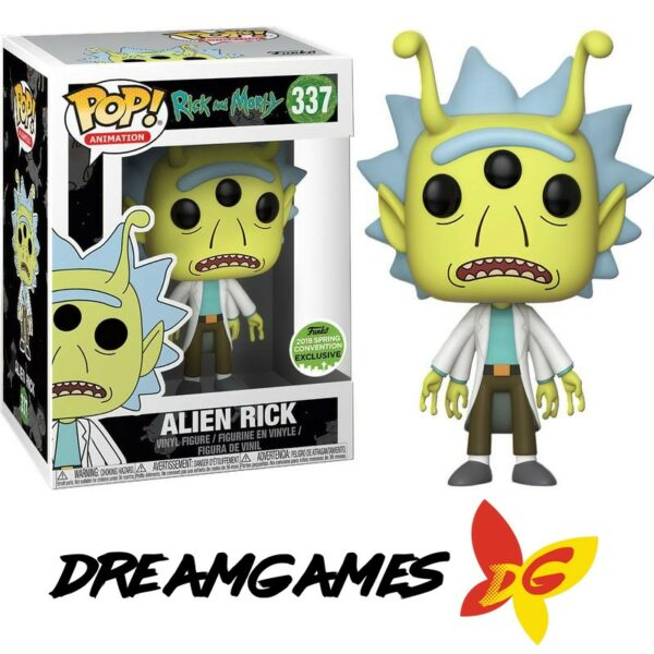 Figurine Pop Rick and Morty 337 Alien Rick ECCC 2018 Convention Exclusive VAULTED