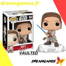 Figurine Pop Star Wars 104 Rey LightSaber VAULTED