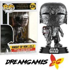 Figurine Pop Star Wars 334 Knight of Ren Arm Cannon Hematite Chrome