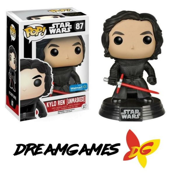 Figurine Pop Star Wars 87 Kylo Ren Unmasked Walmart Exclusive