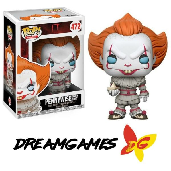 Figurine Pop It 472 Pennywise with boat