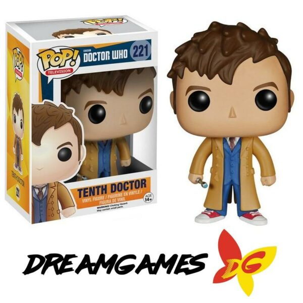 Figurine Pop Doctor Who 221 Tenth Doctor