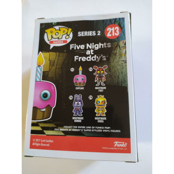 Figurine Pop Five Nights at Freddy's 213 Cupcake VAULTED Not Mint! 3