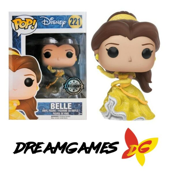 Figurine Pop Disney Beauty and the Beast 221 Belle Glitter Exclusive