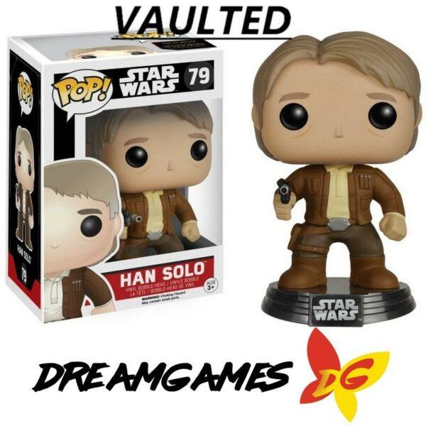 Figurine Pop Star Wars 79 Han Solo Ep. 7 VAULTED