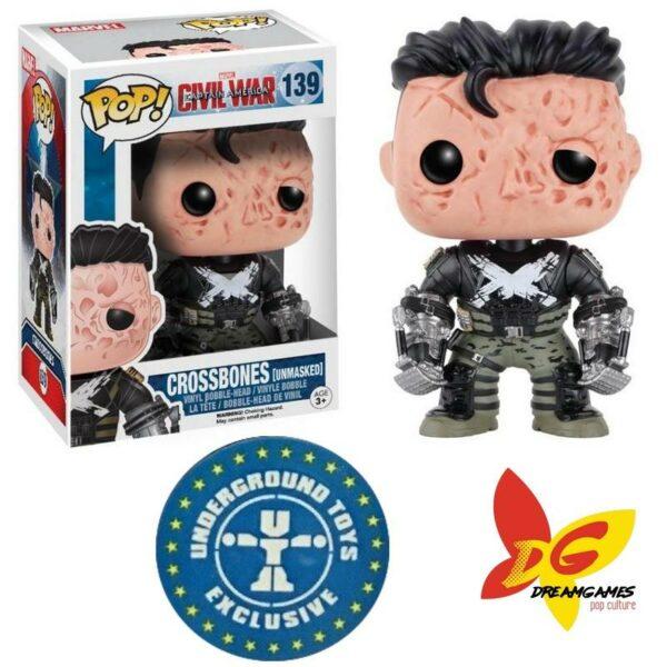 Figurine Pop Marvel 139 Crossbones unmasked