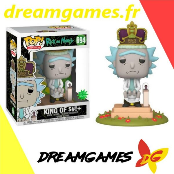 Figurine Pop Rick and Morty 694 King of $#!+ with sound