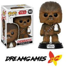 Figurine Pop Star Wars 195 Chewbacca with Porg