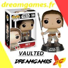 Figurine Pop Star Wars 58 Rey with staff VAULTED