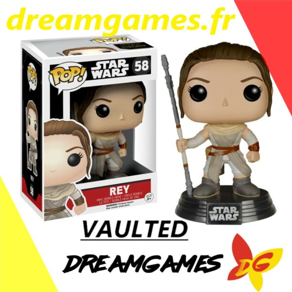 Figurine Pop Star Wars 58 Rey with staff VAULTED