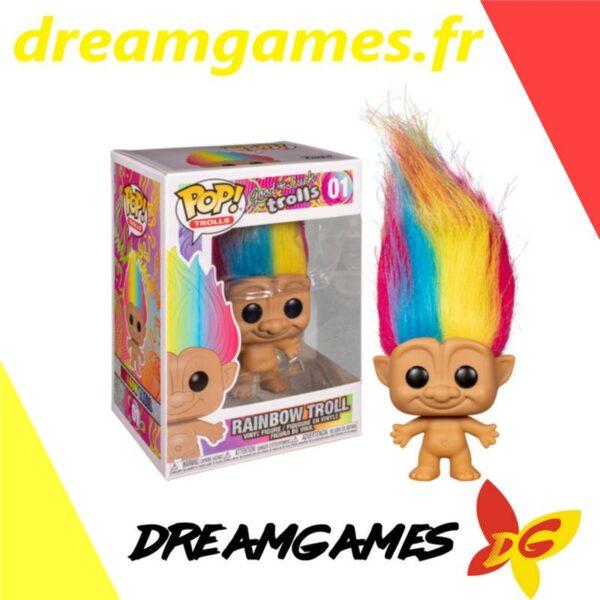 Figurine Pop Trolls 01 Rainbow Troll