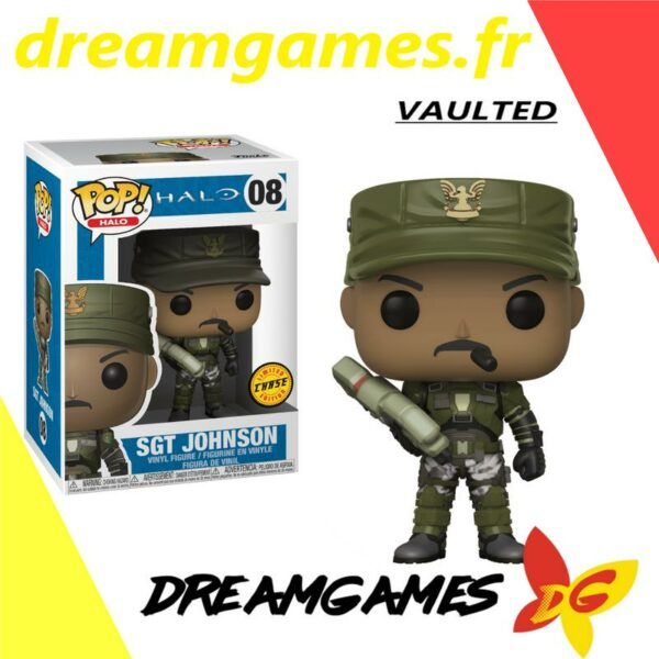 Figurine Pop Halo 08 Sgt Johnson CHASE VAULTED