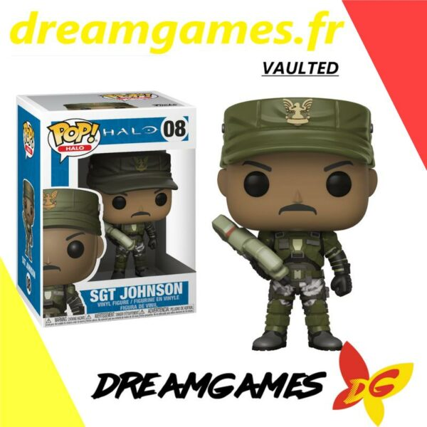 Figurine Pop Halo 08 Sgt Johnson VAULTED