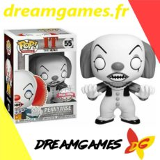 Figurine Pop IT 55 Pennywise Black and White