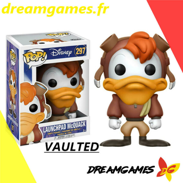 Figurine Pop Darkwing Duck 297 Launchpad McQuack VAULTED