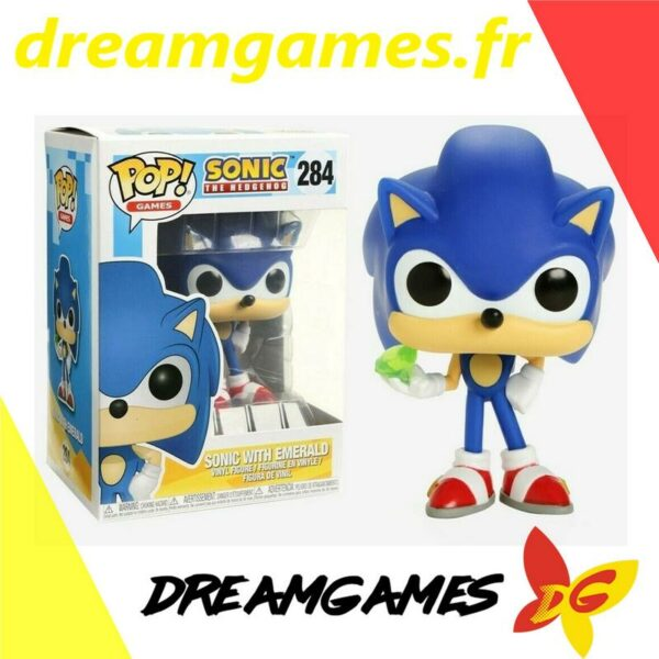 Figurine Pop Sonic with emerald 284
