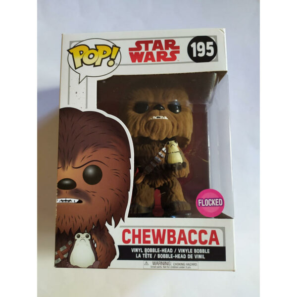 Figurine Pop Star Wars 195 Chewbacca with Porg Flocked 1