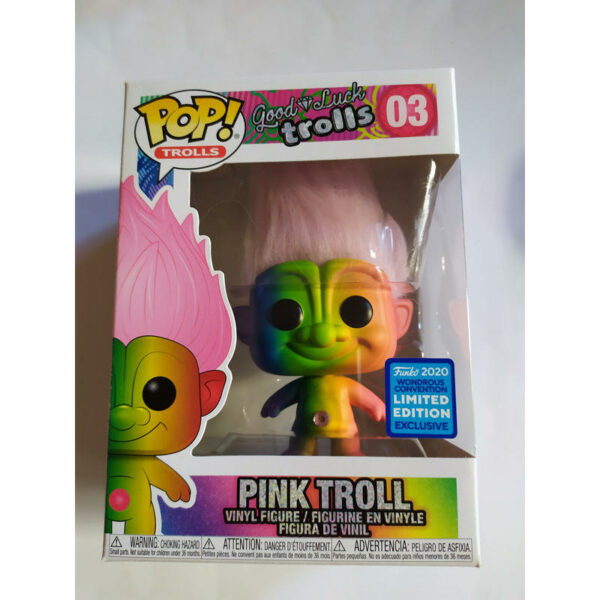 Figurine Pop Trolls 03 Rainbow Troll with pink hair 1