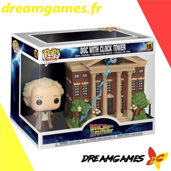 Figurine Pop Back to the Future 15 Doc with Clock Tower