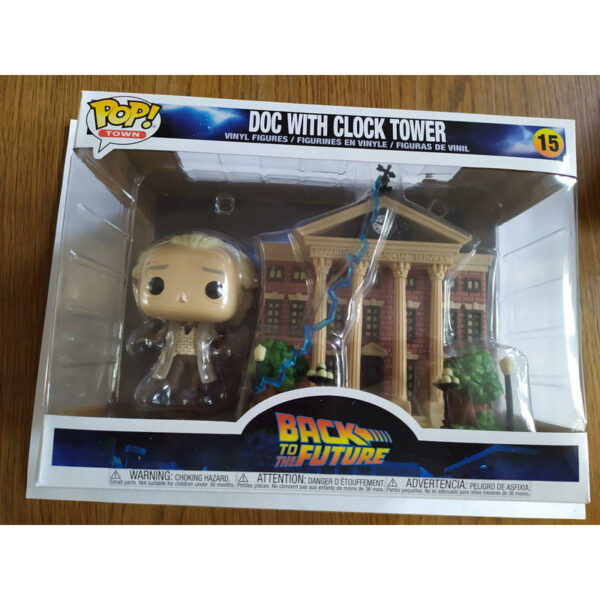 Figurine Pop Back to the Future 15 Doc with Clock Tower 1