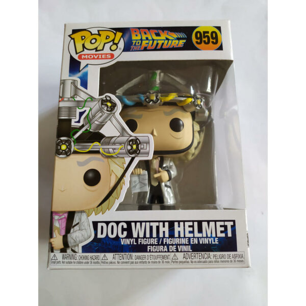 Figurine Pop Back to the Future 959 Doc with helmet