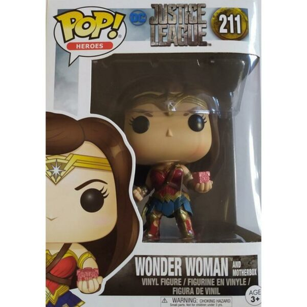 Figurine Pop Justice League 211 Wonder Woman and motherbox 1