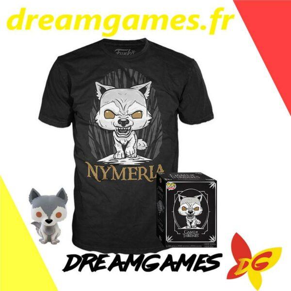 Figurine Pop Game of Thrones 76 Nymeria (not mint) + tee-shirt M