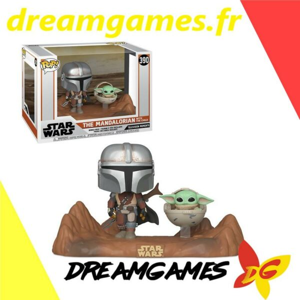 Figurine Pop Star Wars 390 The Mandalorian with the Child