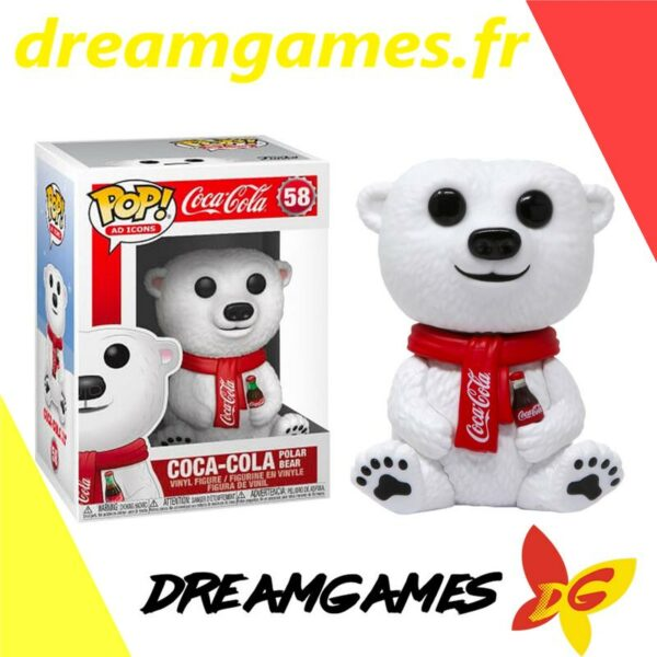Figurine Pop Coca Cola 58 Polar Bear