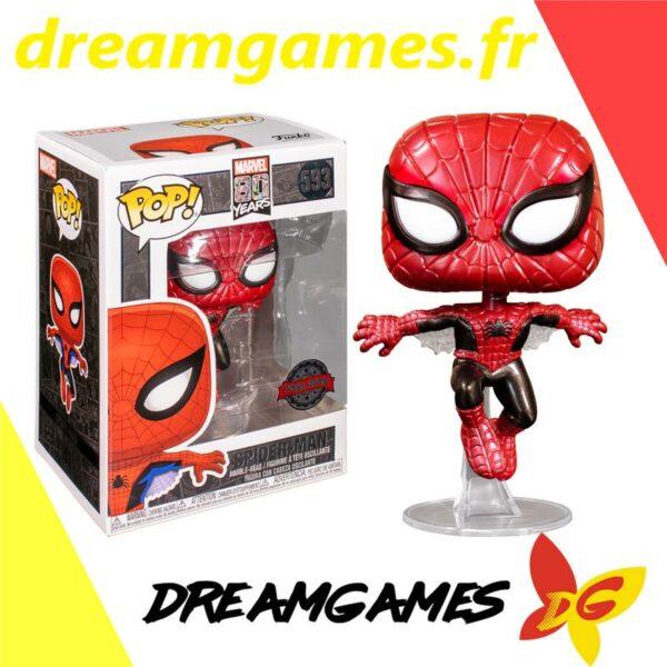 Figurine Pop Marvel 593 Spider-Man Metallic 1