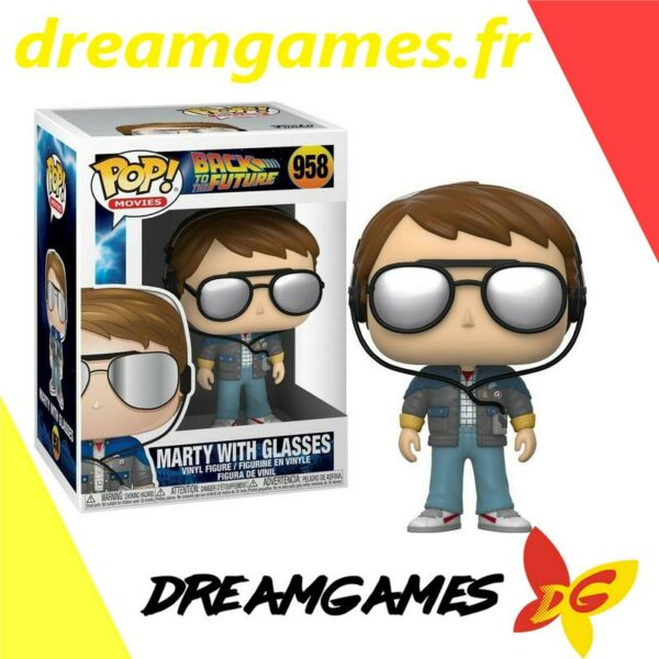 Figurine Pop Back to the Future 958 Marty with glasses