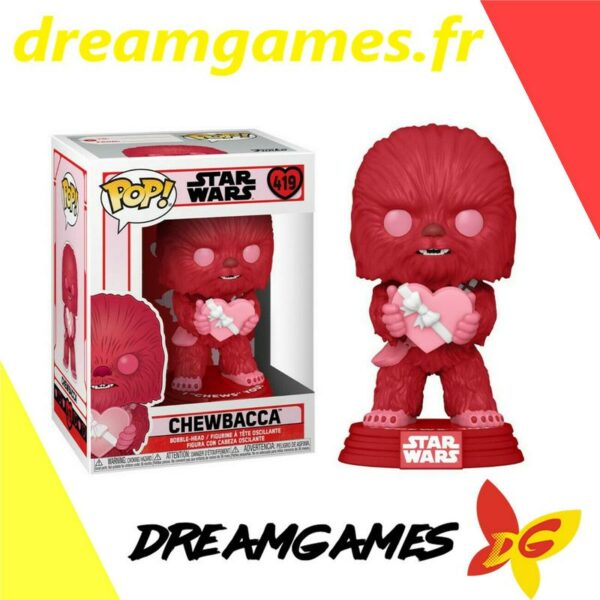 Figurine Pop Star Wars 419 Valentines Chewbacca with heart