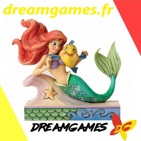 Figurine Disney Traditions Ariel with Flounder