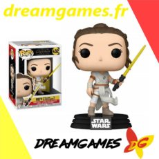Figurine Pop Star Wars 432 Rey with yellow lightsaber