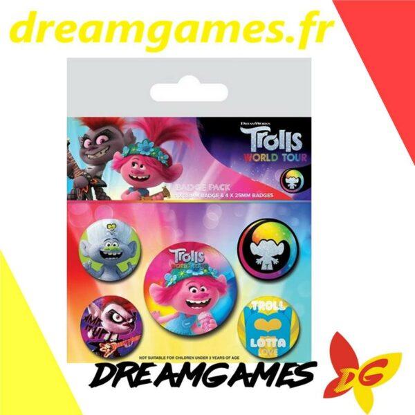 Trolls Pack de 5 Badges